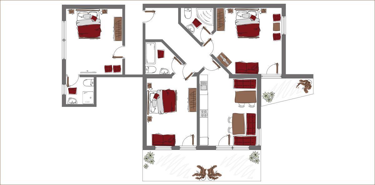 Apartment Berglandschaft