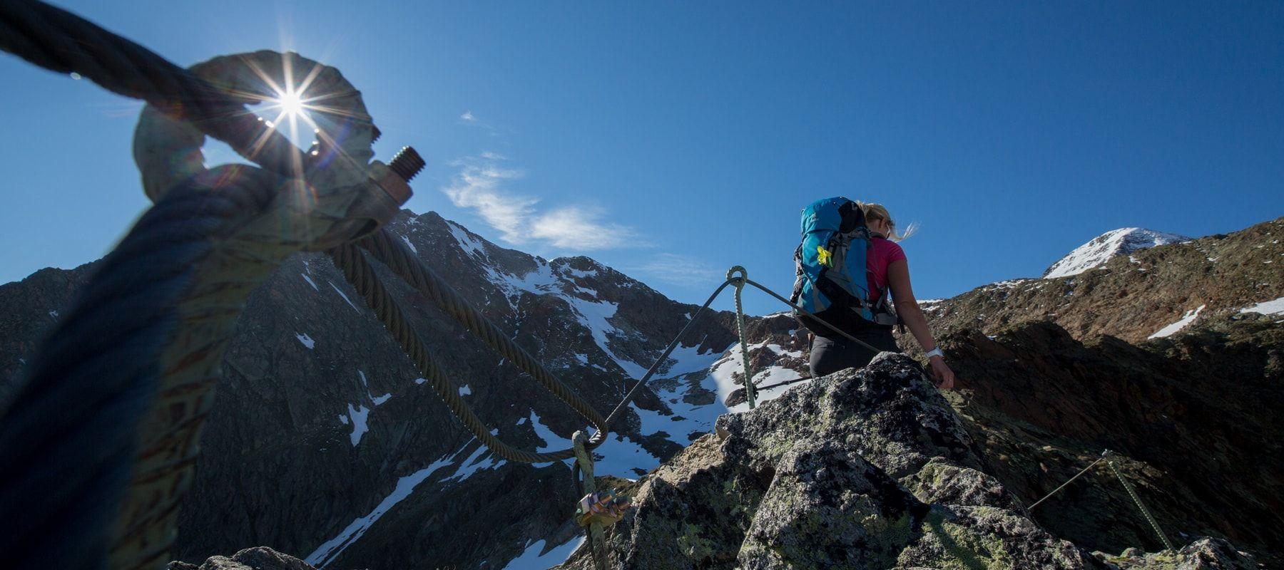 Sommerurlaub-Bergsteigen-Sölden